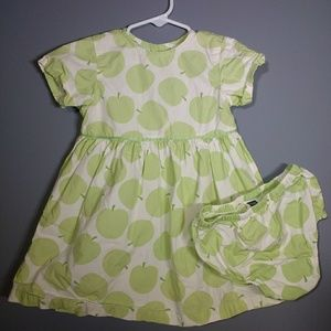 Green Apple Dress with Diaper Cover